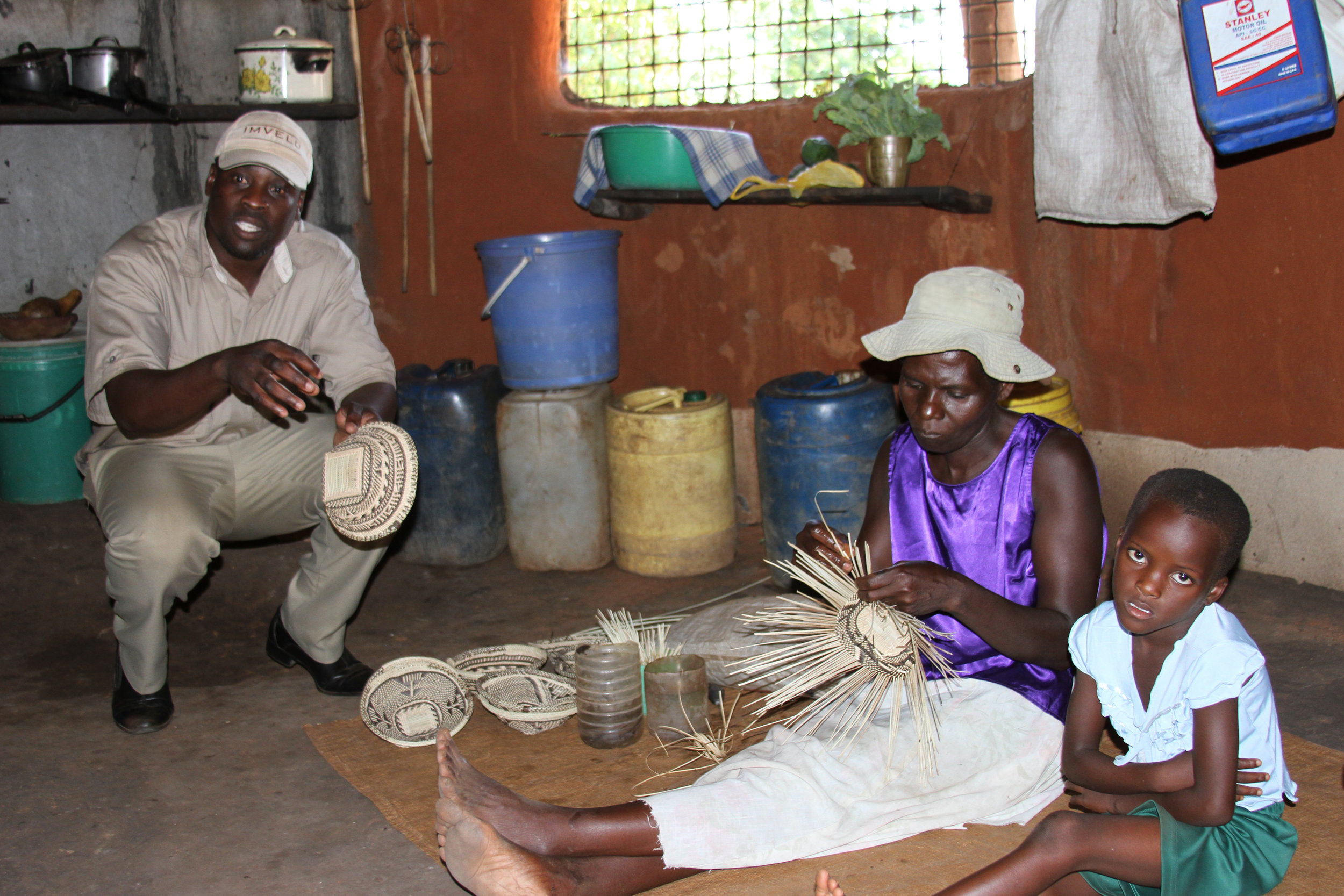 38. Imvelo Safari Lodges - Gorges  - Guide Richman conducting a village visit at Mrs Mudimba_s homestead (2).jpg