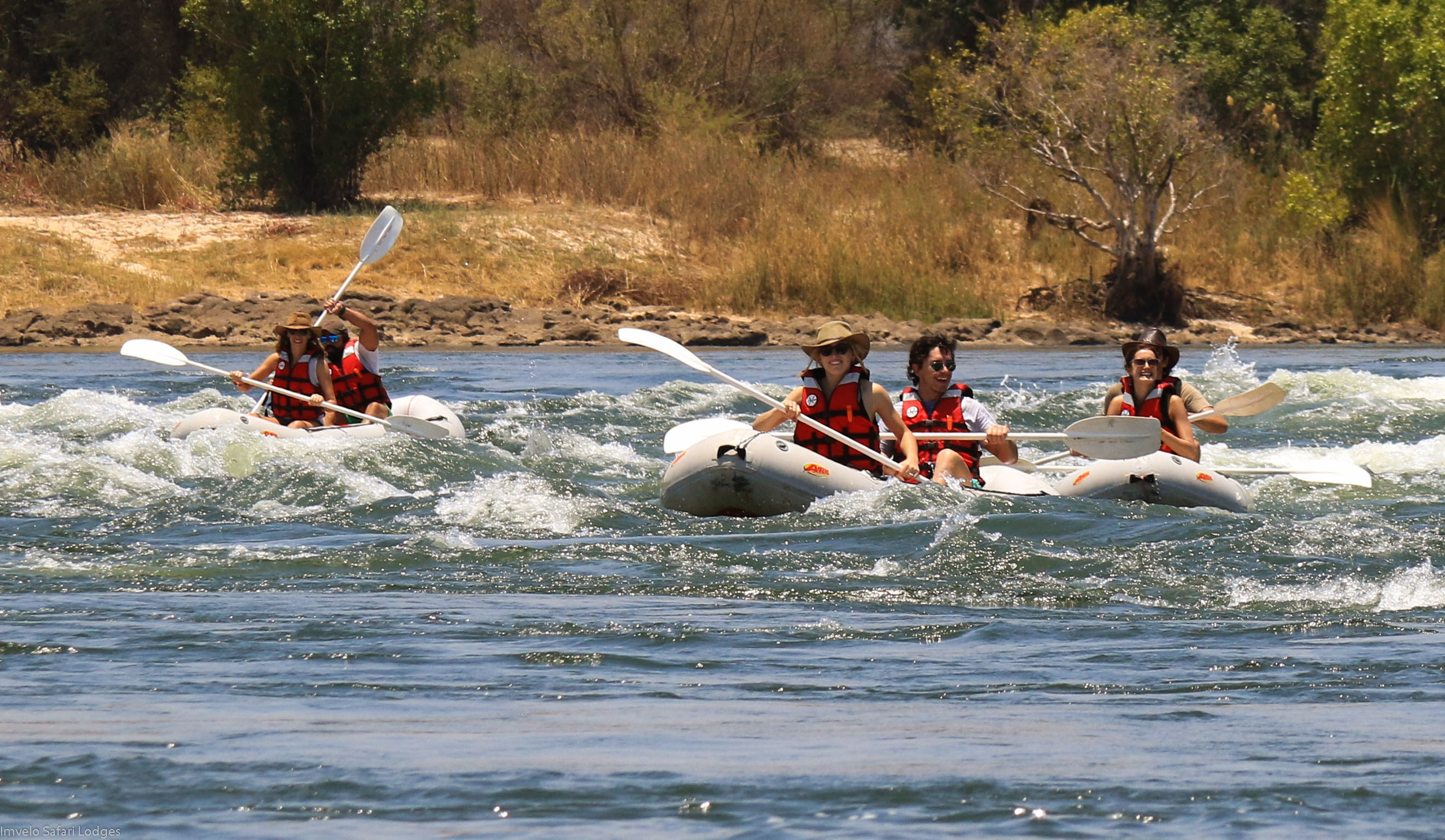 32b  Imvelo Safari Lodges - Zambezi Sands  - Inflatable canoes handle white water with ease.jpg
