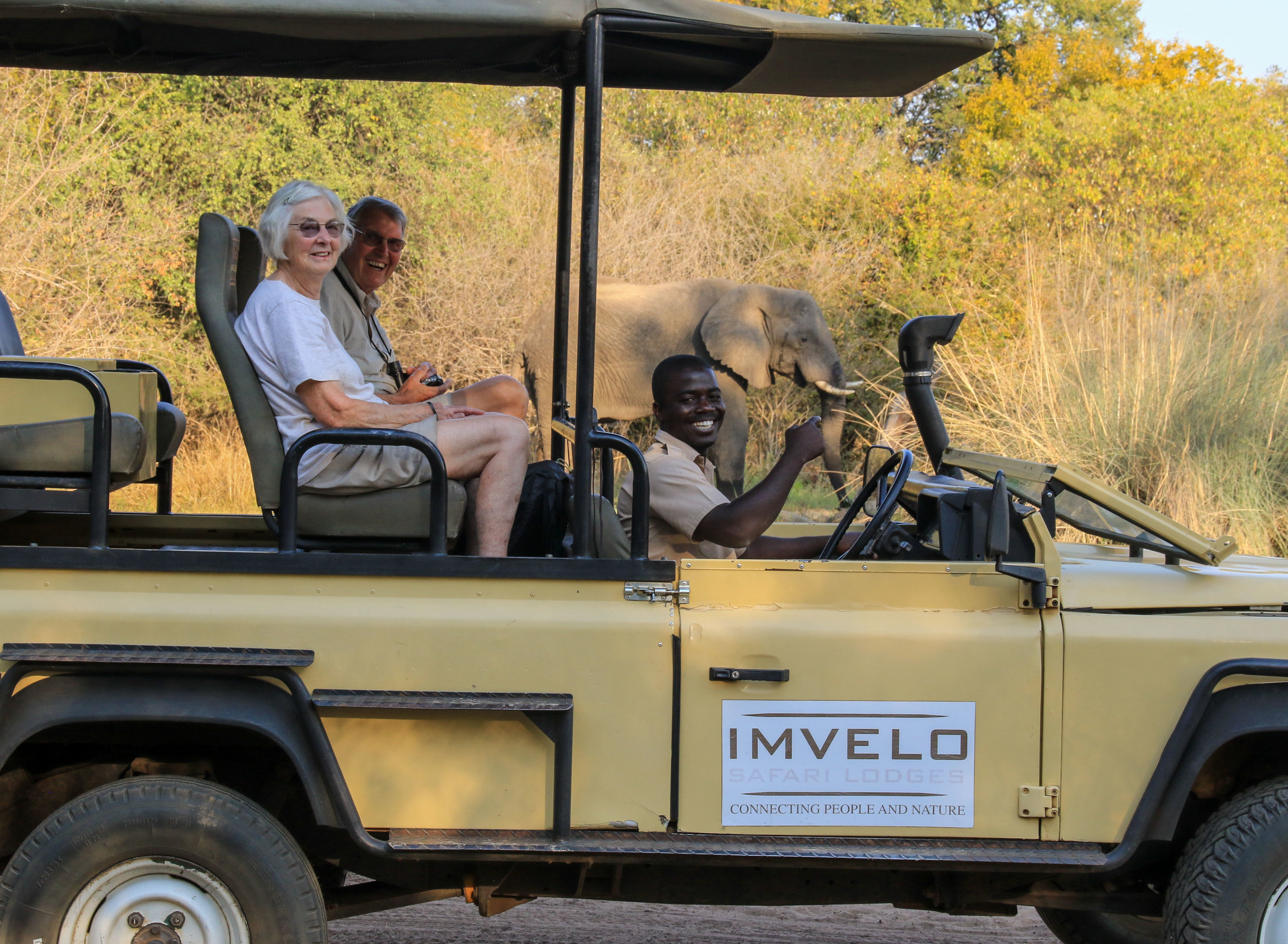 65 - Imvelo Safari Lodges - Zambesi Sands - Fred and Muriel Shaw with Stanley Ndhlovu.jpg