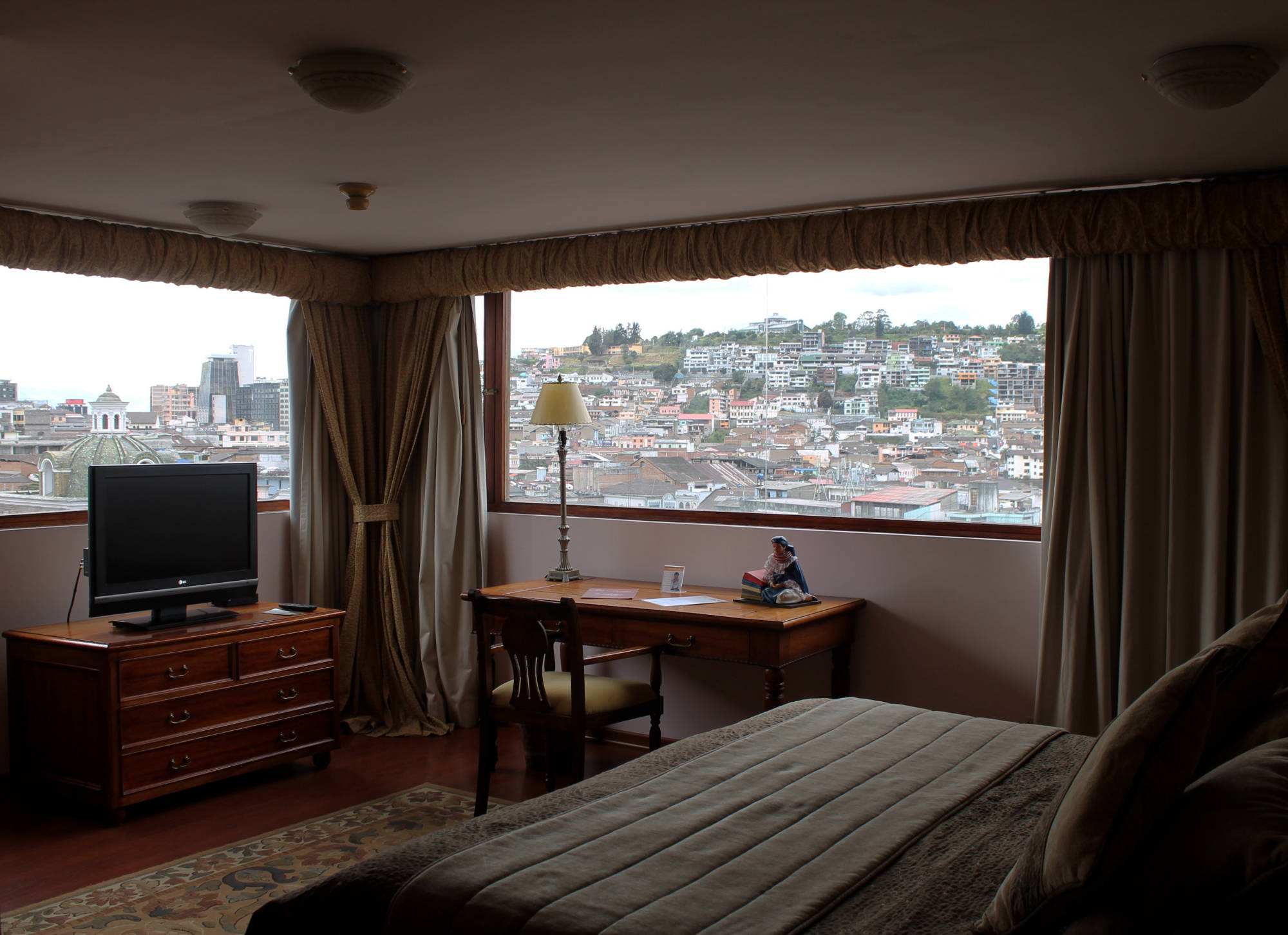 Soak in the beautiful colonial views of Quito before heading out for your flight home.    Meals: B