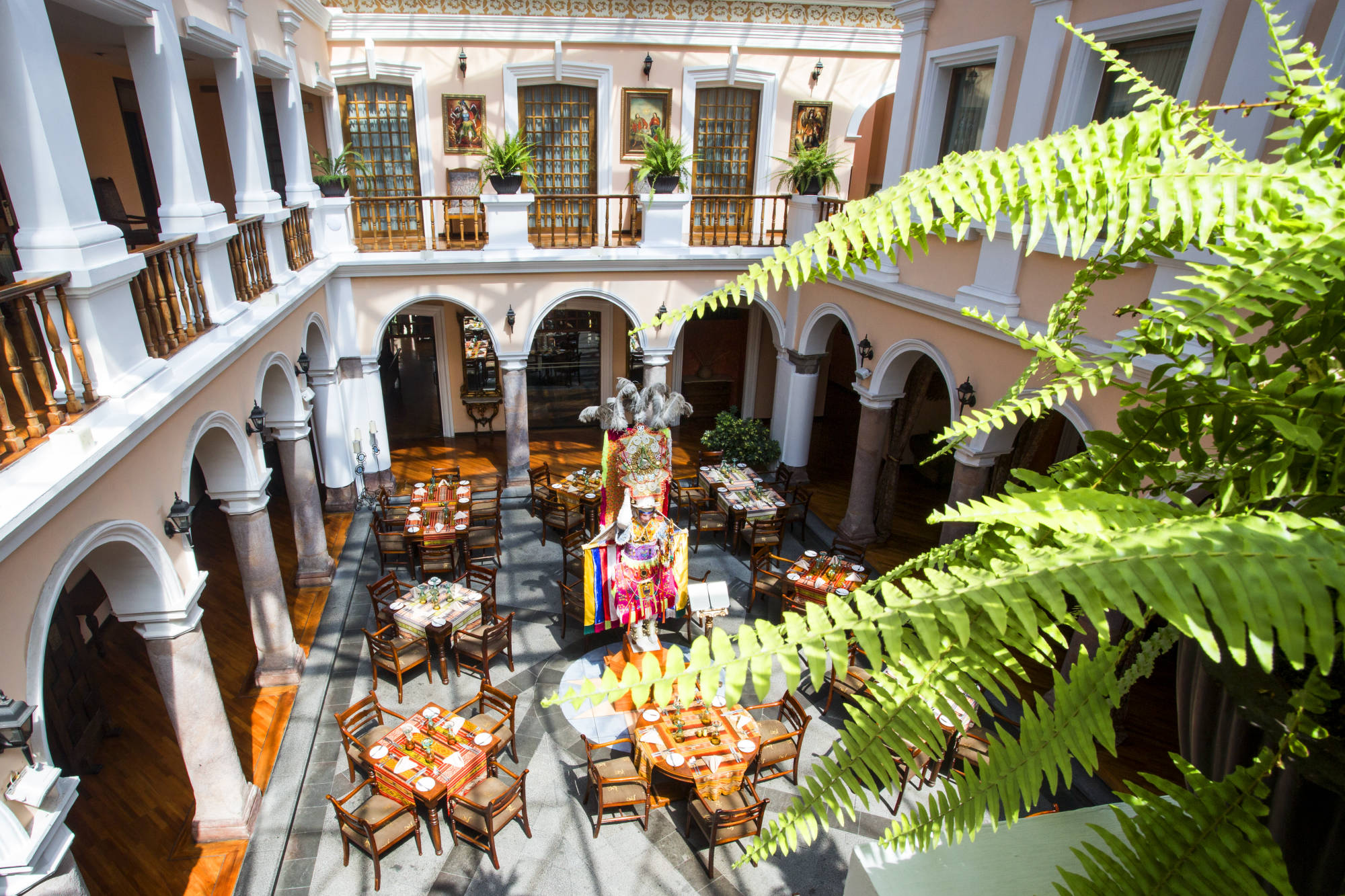 Explore the colonial city of Quito on this free evening.