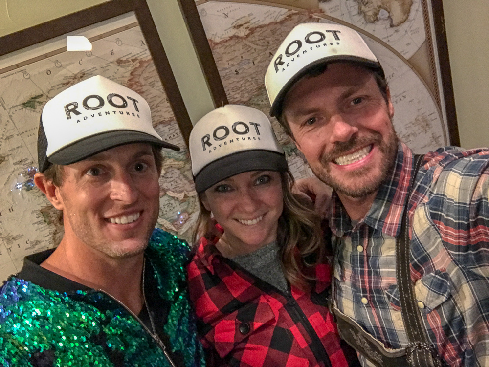 One of our RUBAR champs rockin' his new hat with the owners of Root Adventures.