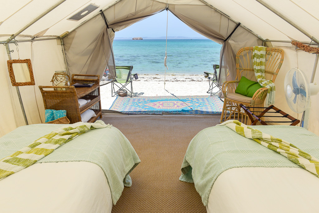 Enchanting view from your Glamping tent at Camp Cecil