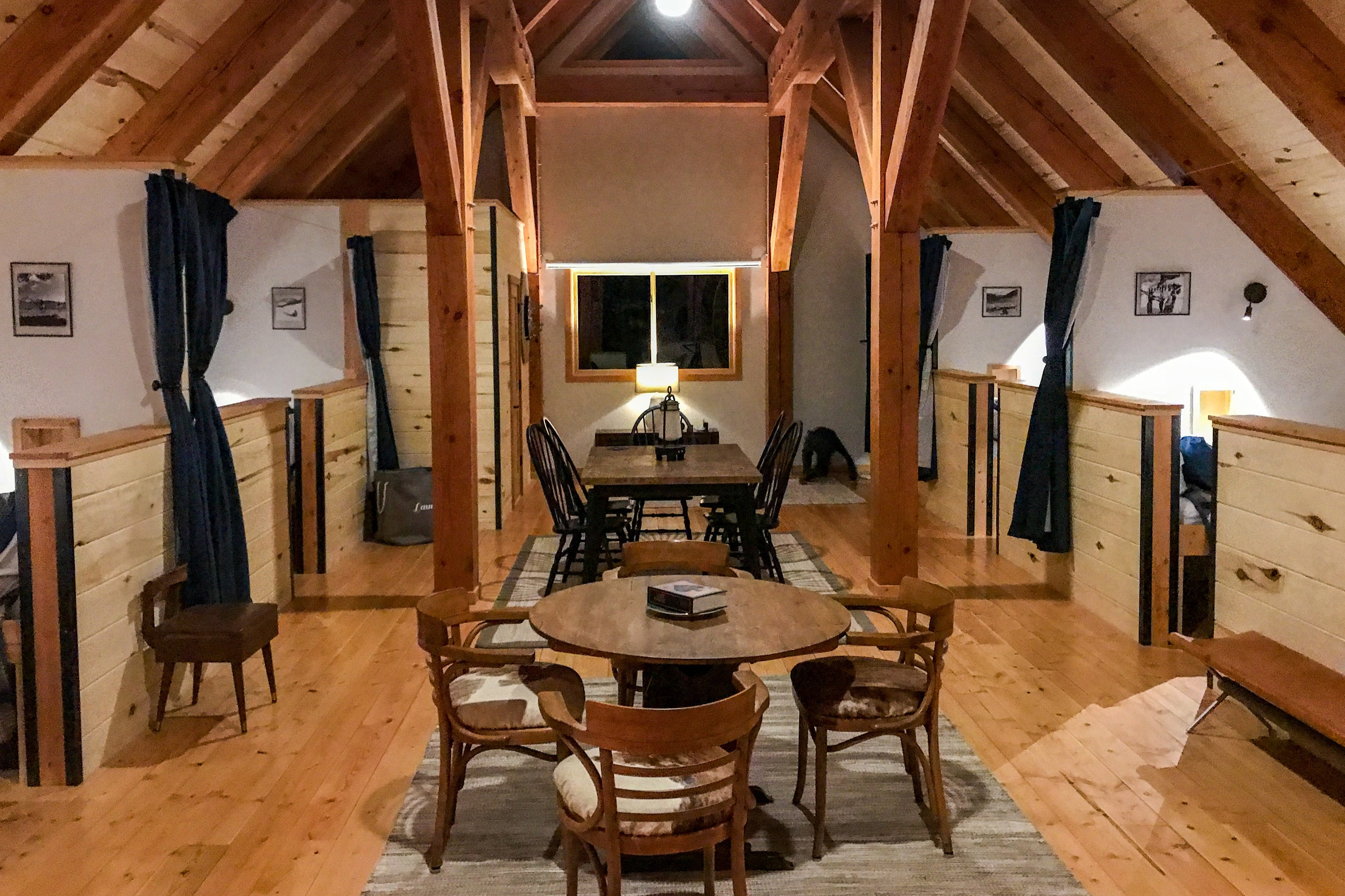 The hut-like experience offers private twin beds in the loft. Private rooms are available for an extra fee.   Meals: B | L | D
