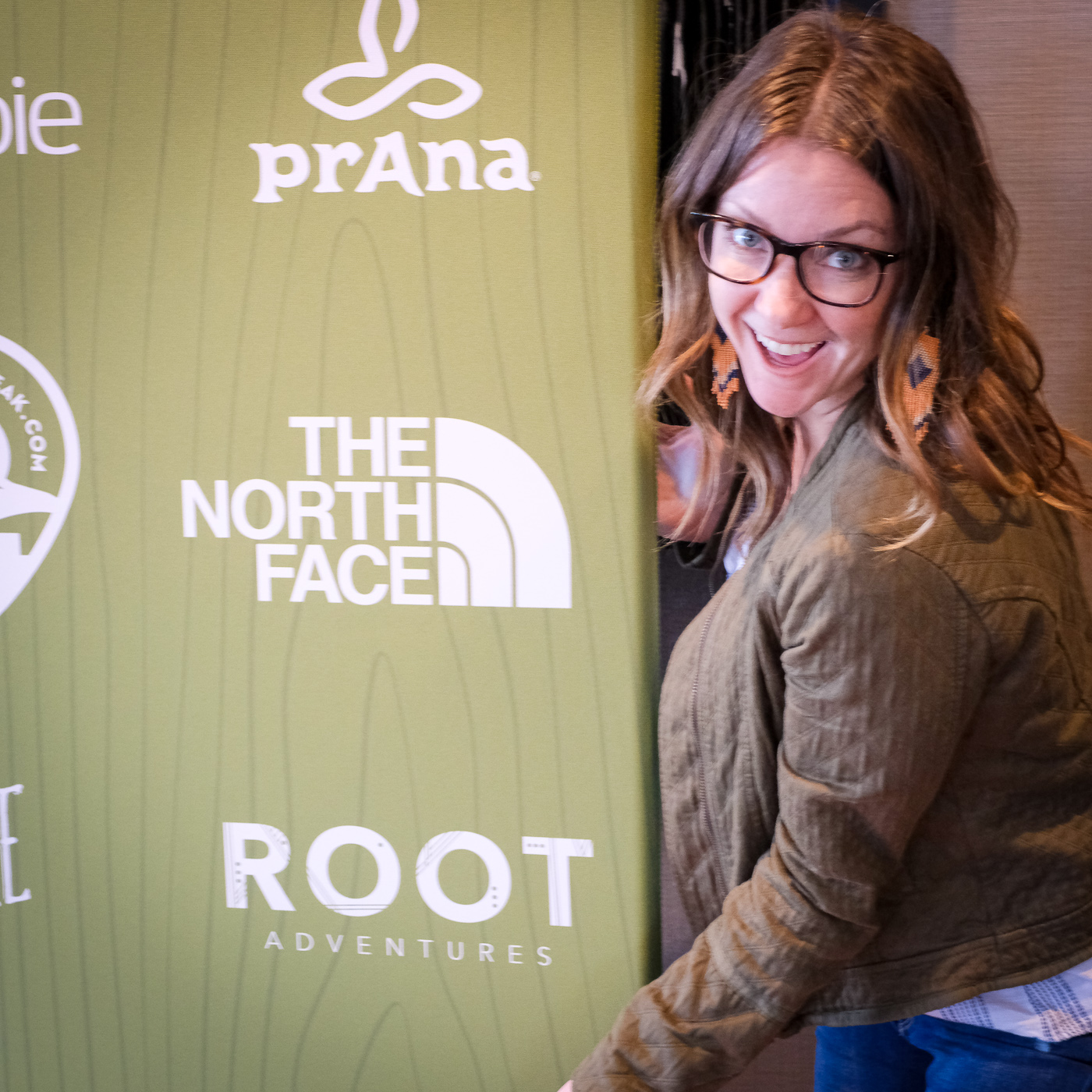 Breanne, Root Founder, celebrating sharing the stage with such amazing brands!