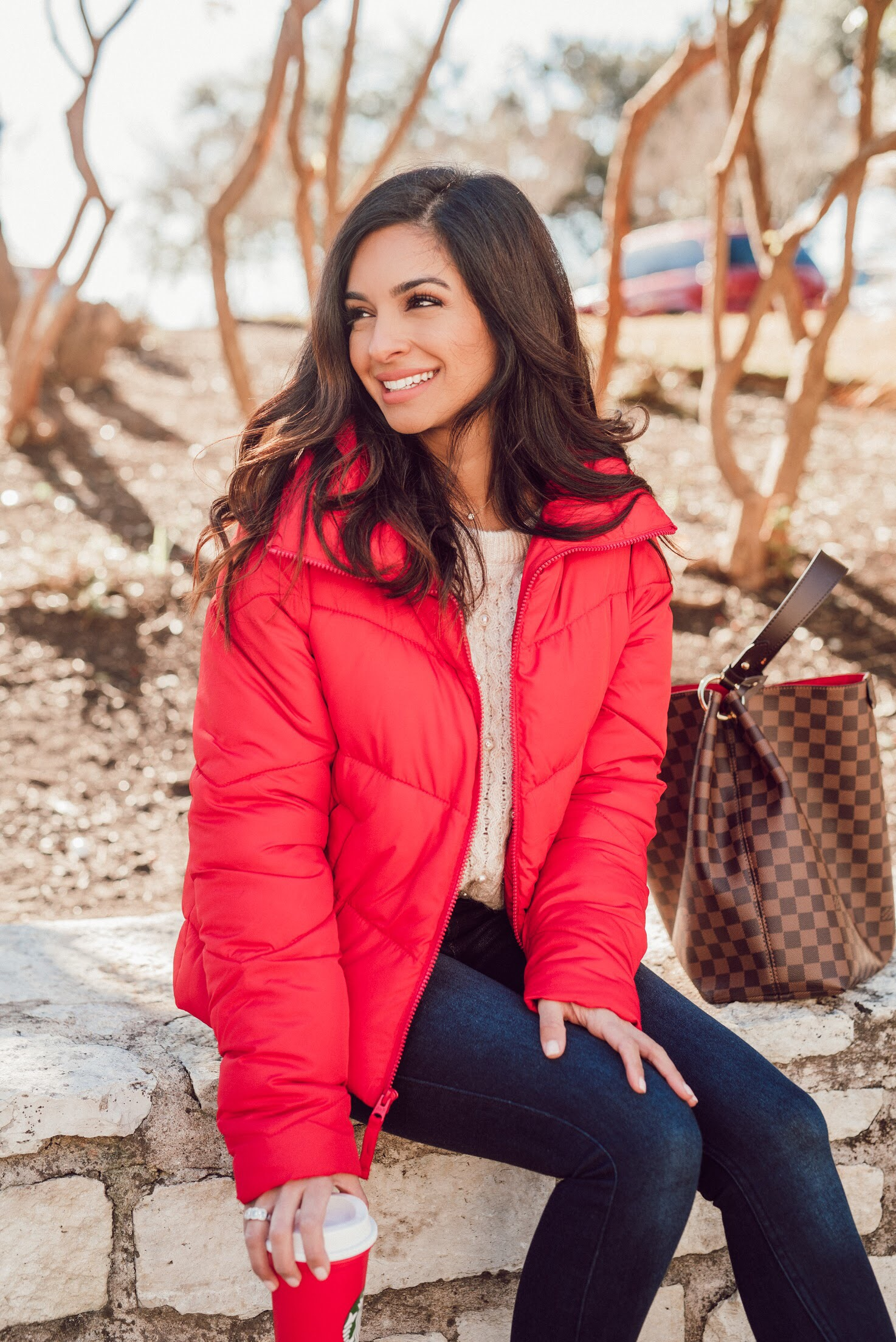 Red Puffer Jacket Abercrombie.JPG