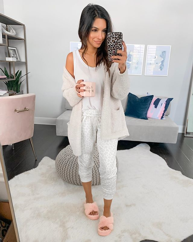 Needing all the ☕️ and comfies after hosting our first sleepover for Reza's bday 💤 Haha they had a blast though!! // My pink fuzzy slippers come in a few colors and you can use code LTK10NASREEN for 10% off any full priced purchase! @koolaburra #koola http://liketk.it/2EPLf @liketoknow.it #liketkit #LTKshoecrush #LTKstyletip #LTKunder50 #LTKunder100 #LTKhome #comfies #sundayvibes