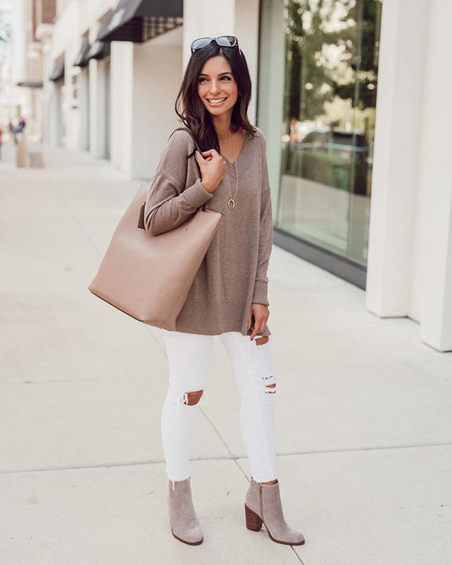 Neutrals are always my fav 🙌🏽 My bag and shoes are from @solesociety and I'm sharing some other new arrivals in stories today! You can click the link in my profile to shop or follow me in the @liketoknow.it app ✨// After a long day with one sick kiddo at home I'm ready to hit the sack early tonight 💤 Hopefully I don't get a second wind and stay up til the wee hours...does this happen to you?!! http://liketk.it/2EZXy @liketoknow.it #liketkit #solesociety #mysolesociety #partner #classicstyle