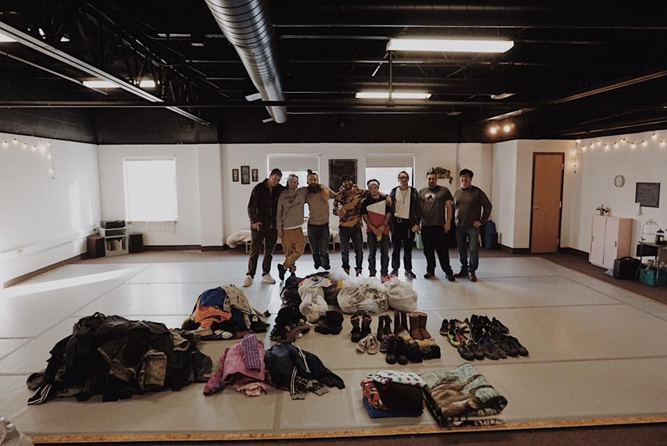 Bboys, Emcees, and artists alike collecting over 200 coats shoes and blankets