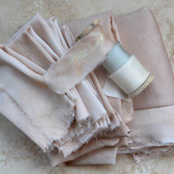 This gorgeous bamboo silk has been dyed by Lancaster and Cornish