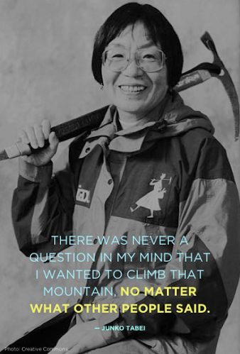 Junko Tabei - First woman to climb Mount Everest - with her all female climbing team!