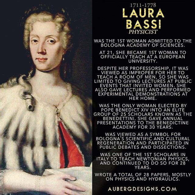 Laura Bassi - First Woman to officially teach at a European University