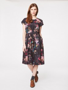 Gorgeous print dress that goes with tights, boots and long cosy cardigans! From  Thought Clothing