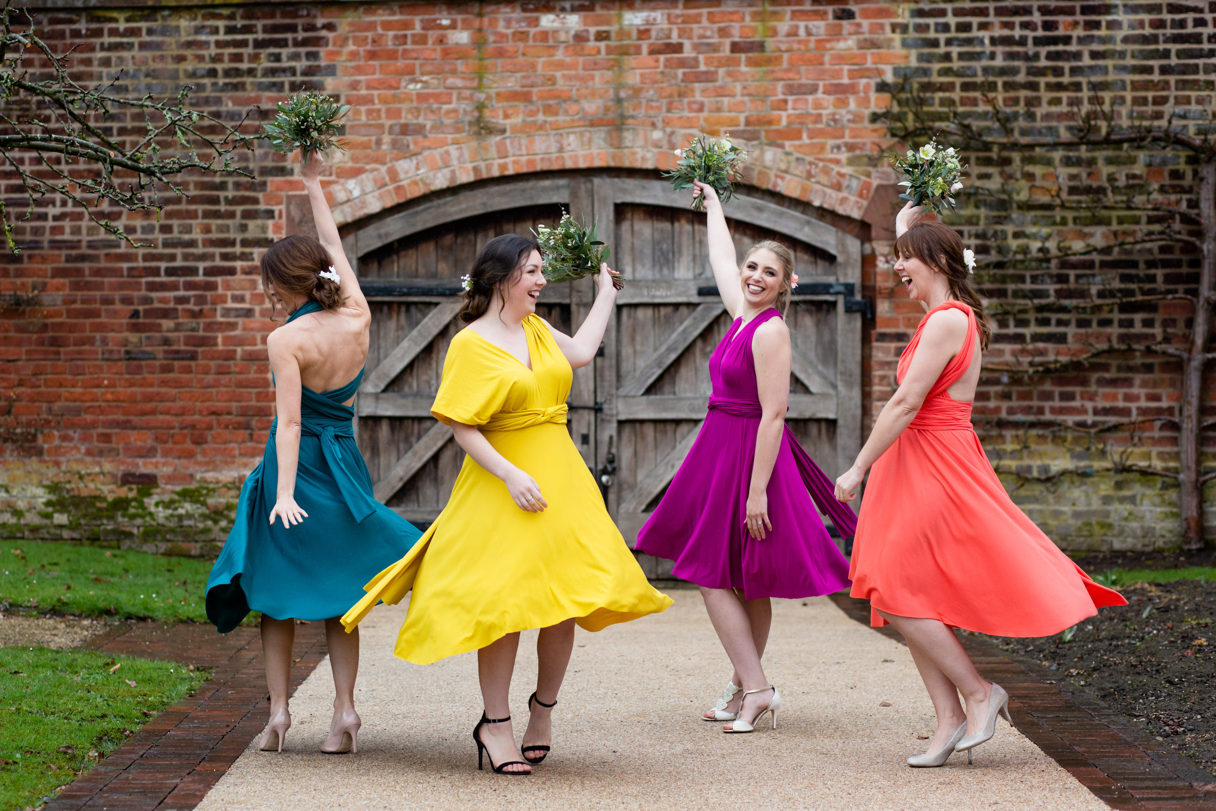 Eco Friendly Bridesmaid dresses with gorgeous twirling skirts!