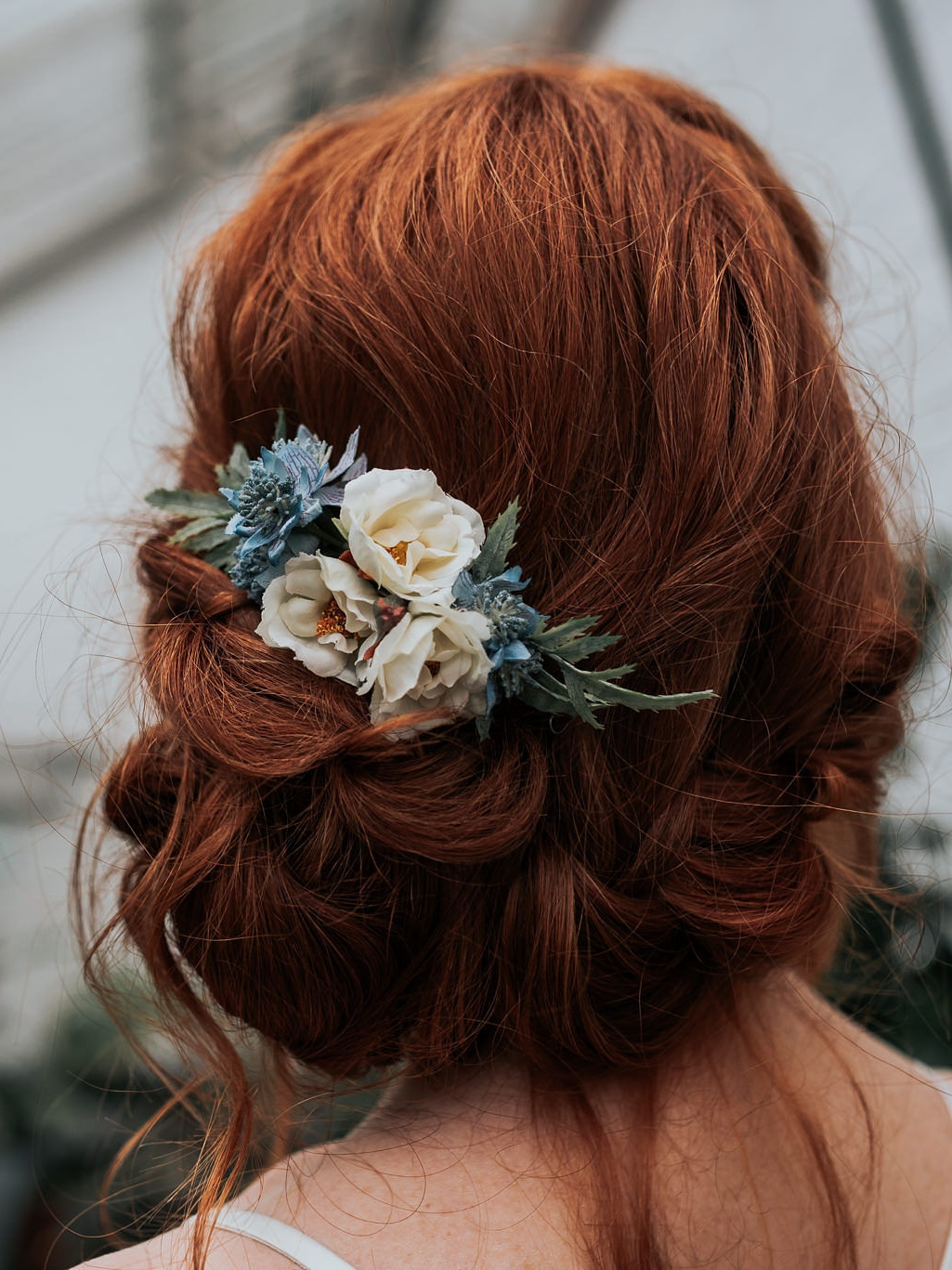 Romantic wild roses - The Sage Hair comb is perfect for maids, stylish and understated.