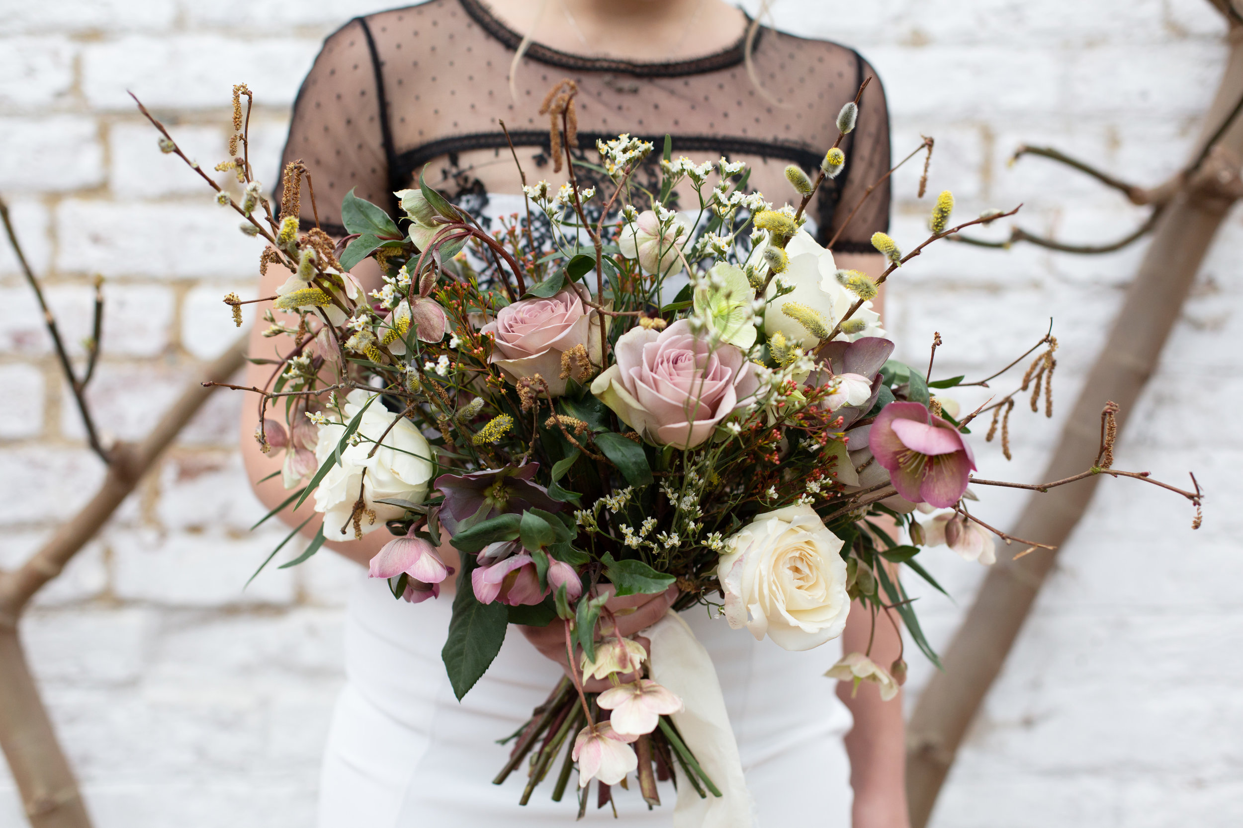 Smokebush Floral - Min is calm, collected and talented. Here is a pic recent Conscious Bride wedding she did! Using local and British grown flowers including those she grows herself!