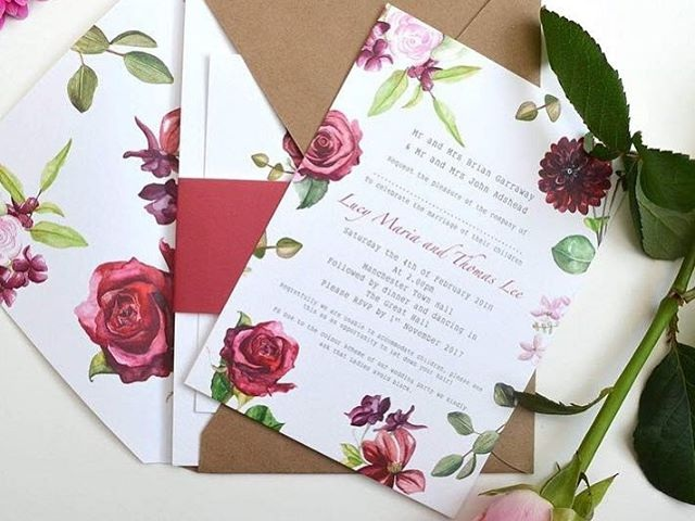 Joanne Lucy Stationery - Hand painted luxury wedding stationery