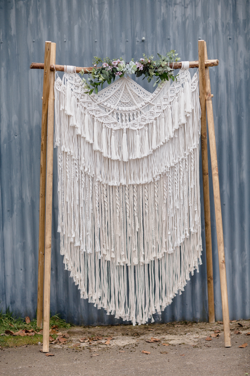 More stunning macrame by  Little White Attic .