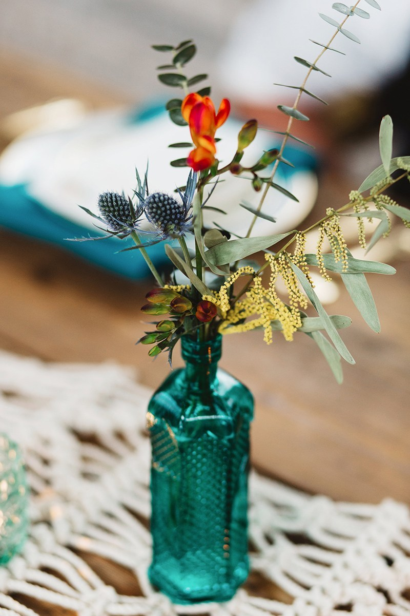 A vibrant boho styled wedding shoot on  Bespoke Bride .
