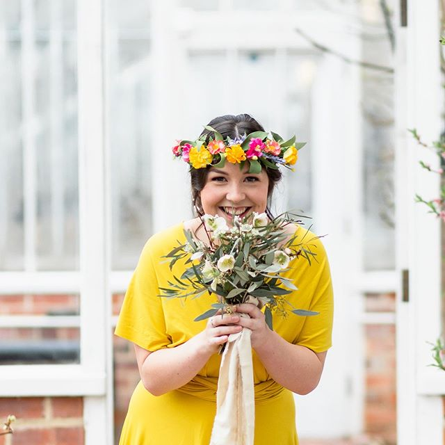 Boo I see you Thursday that means it's Friyay tomorrow! But lucky me thursdays are the start of my weekend yippie it's wine o'clock!  This pic features my saffron eco bridesmaids dress with @smokebushfloral flowers and @lunaandwild flower crown #consciousbride #ecobride #ethicalwedding #ethicalbride #indiebride #shopethicalinstead #naturalbride #ecowedding #coolbride #stylishbride #modernbride #bridetobe #greenwedding #shopsmall #madeinbritain #handmadewithlove #bohobride #bohemianwedding #ethicalfashion #ecoweddinginspiration #bridesmaids #sustainablefashion #sustainablebride #sustainablewedding #ecowedding #indiewedding #naturalbride #naturalwedding