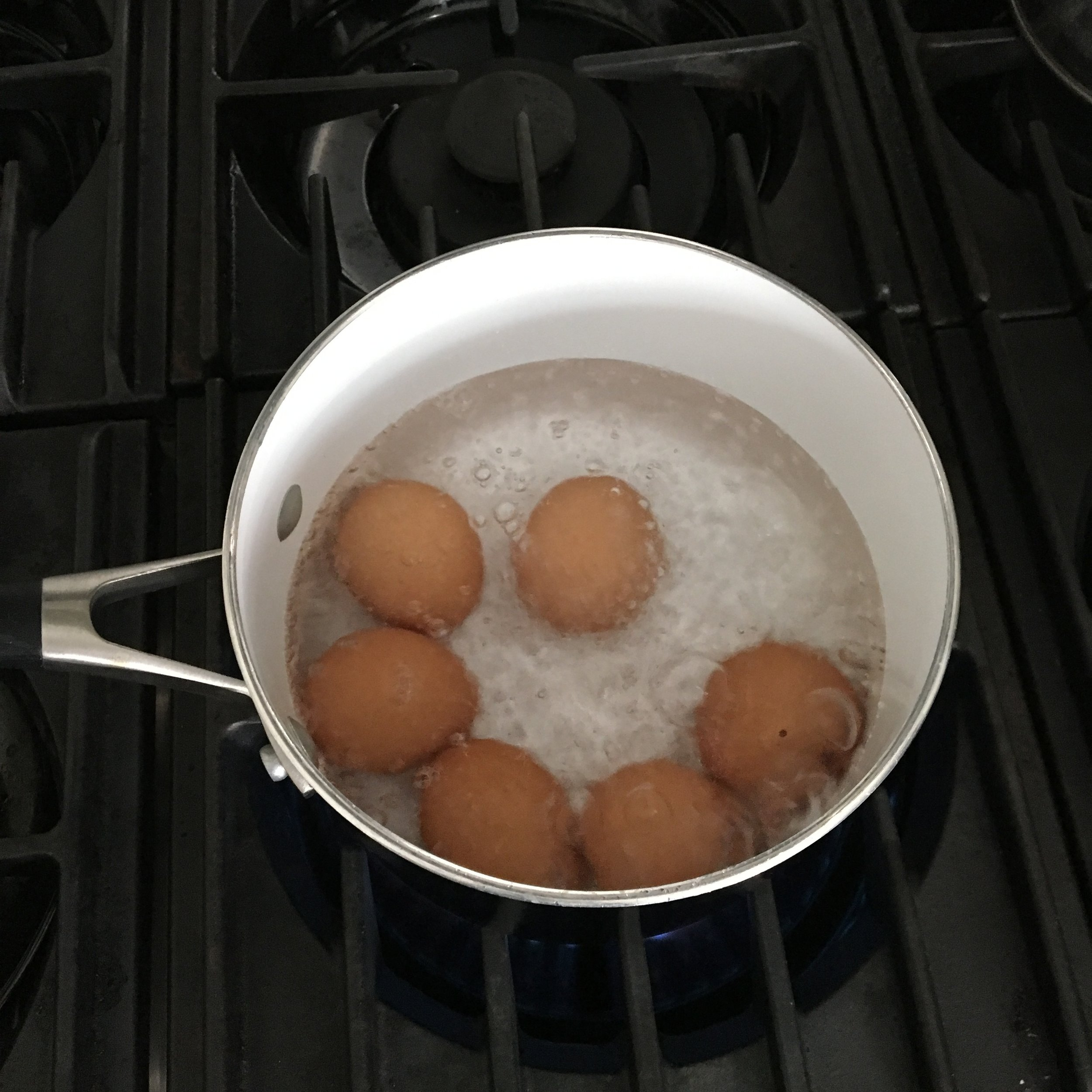 Step 3: Boil uncovered for exactly 6 minutes