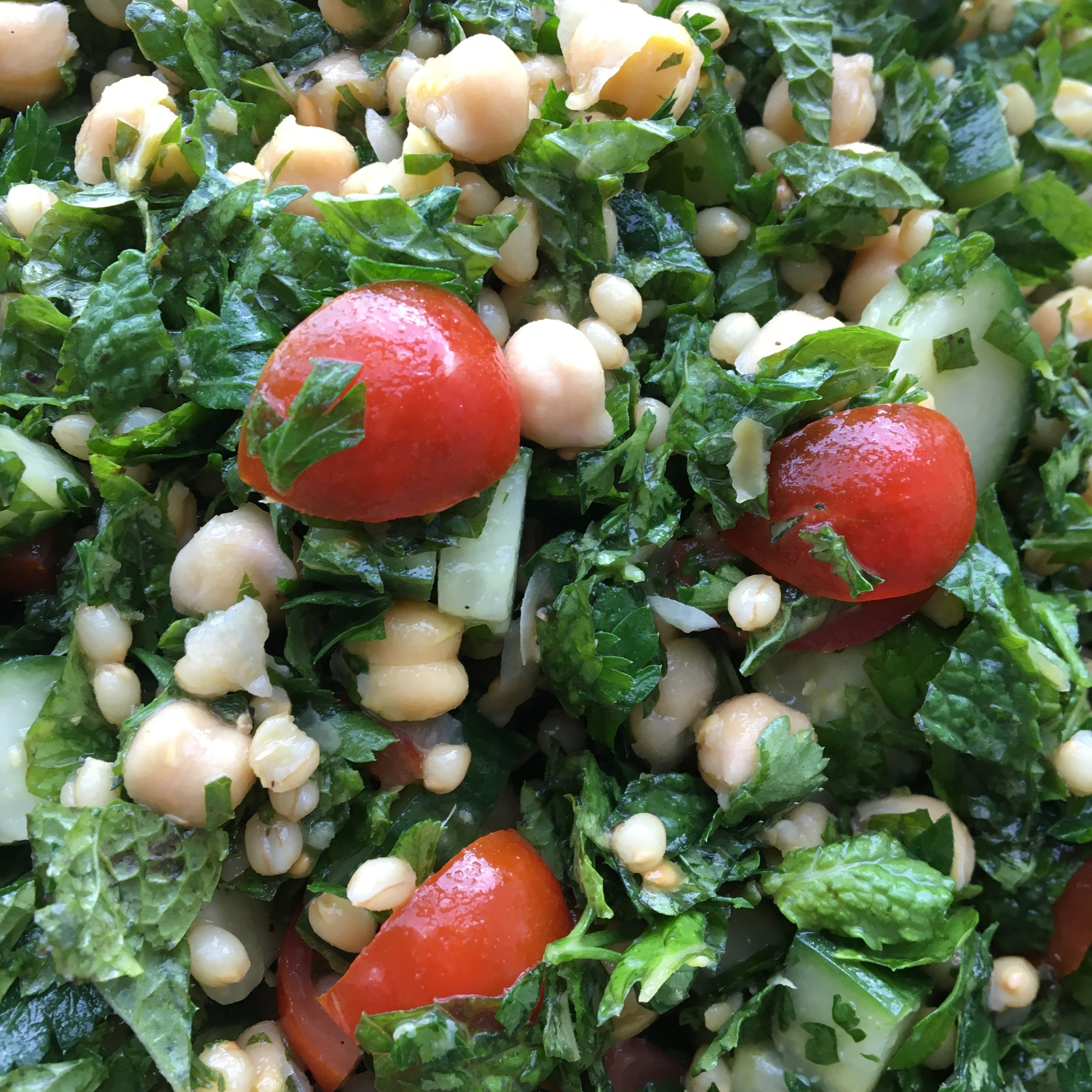 Herb Salad with Beans or Peas
