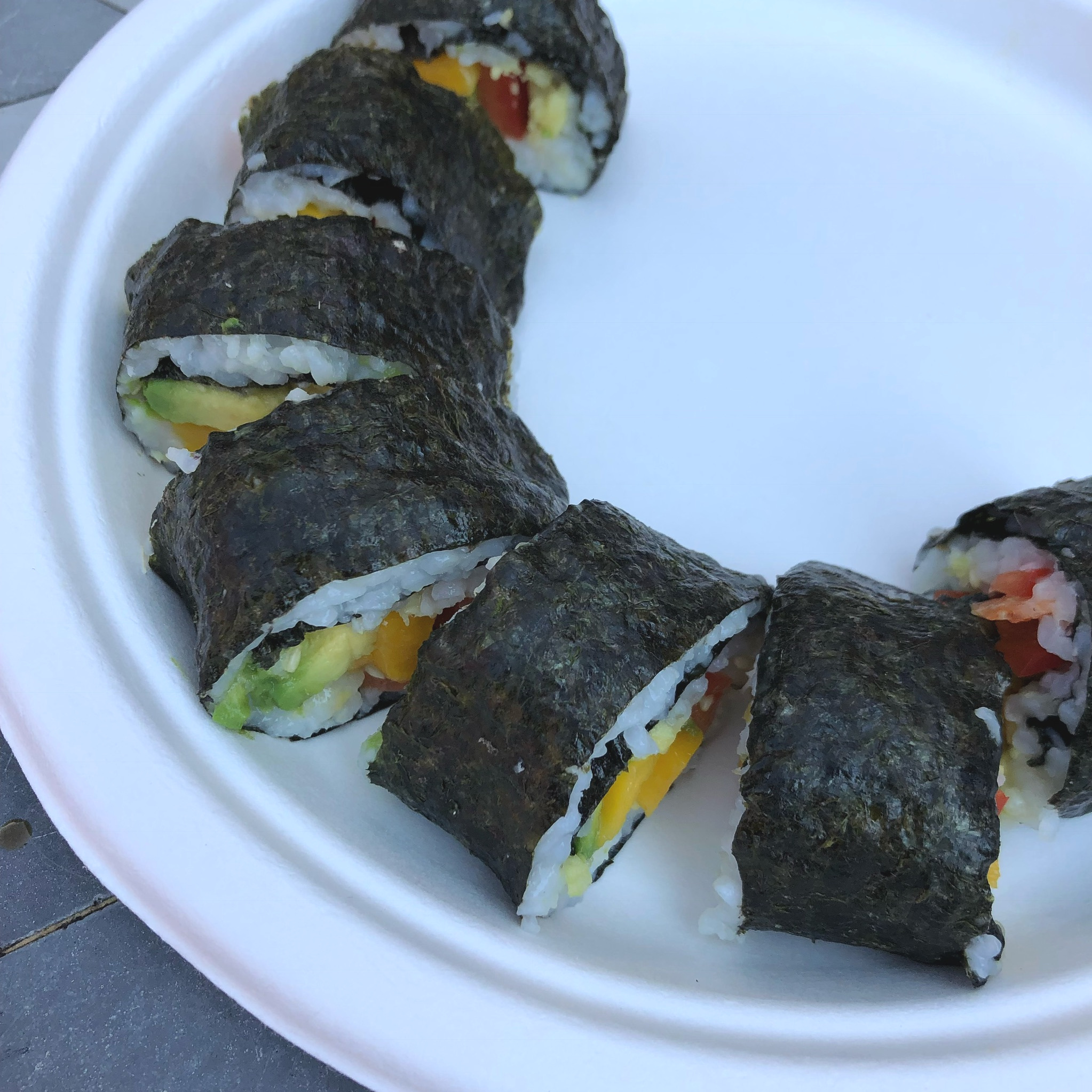 Tofu & Vegetable Sushi Rolls