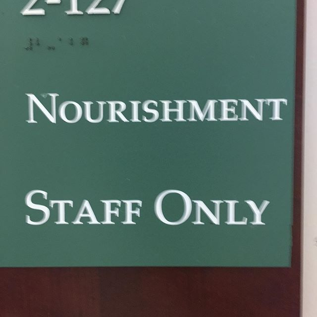 Hospitals are some of the weirdest environments I've been in...foucault was right! #hospital #nourishment #staffonly #hospitalstaff #foucault #sick #westernmedicine #limitations