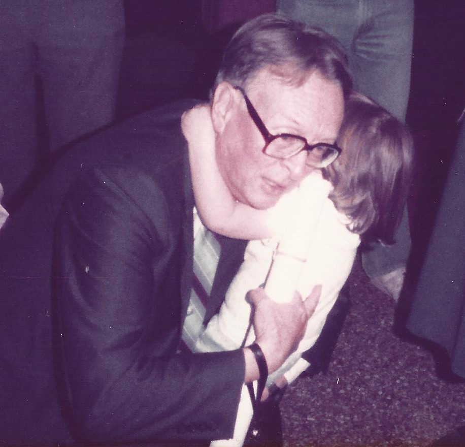Grandpa Hall and me in 1983