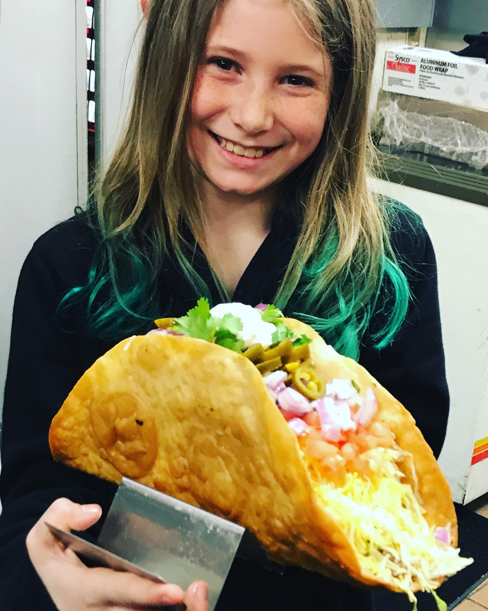 TWO POUND TACO - $15  EAT 3 & THEY ARE FREE!