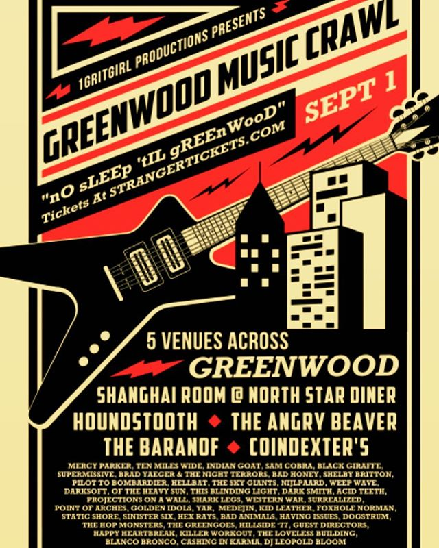 2pm @houndtooth_public_house @greenwoodmusiccrawl #nosleeptillgreenwood