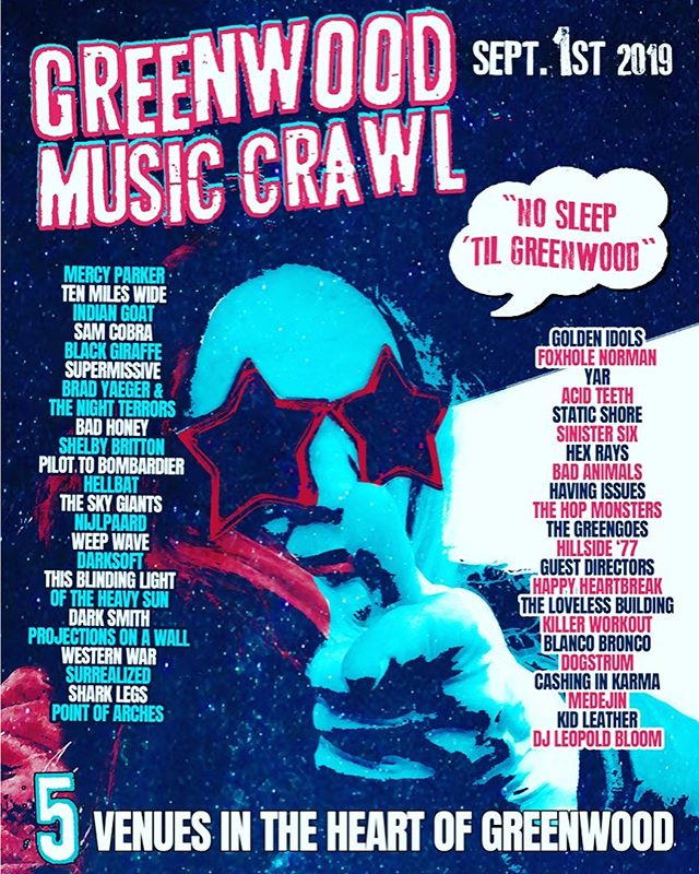 @greenwoodmusiccrawl 5 venues 45 local bands, 1 new band member on keys and bass #localartist #northwest #funkadelic #groove #hits