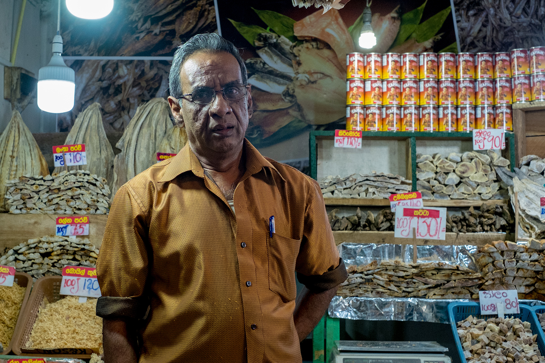 Market seller, Kandy