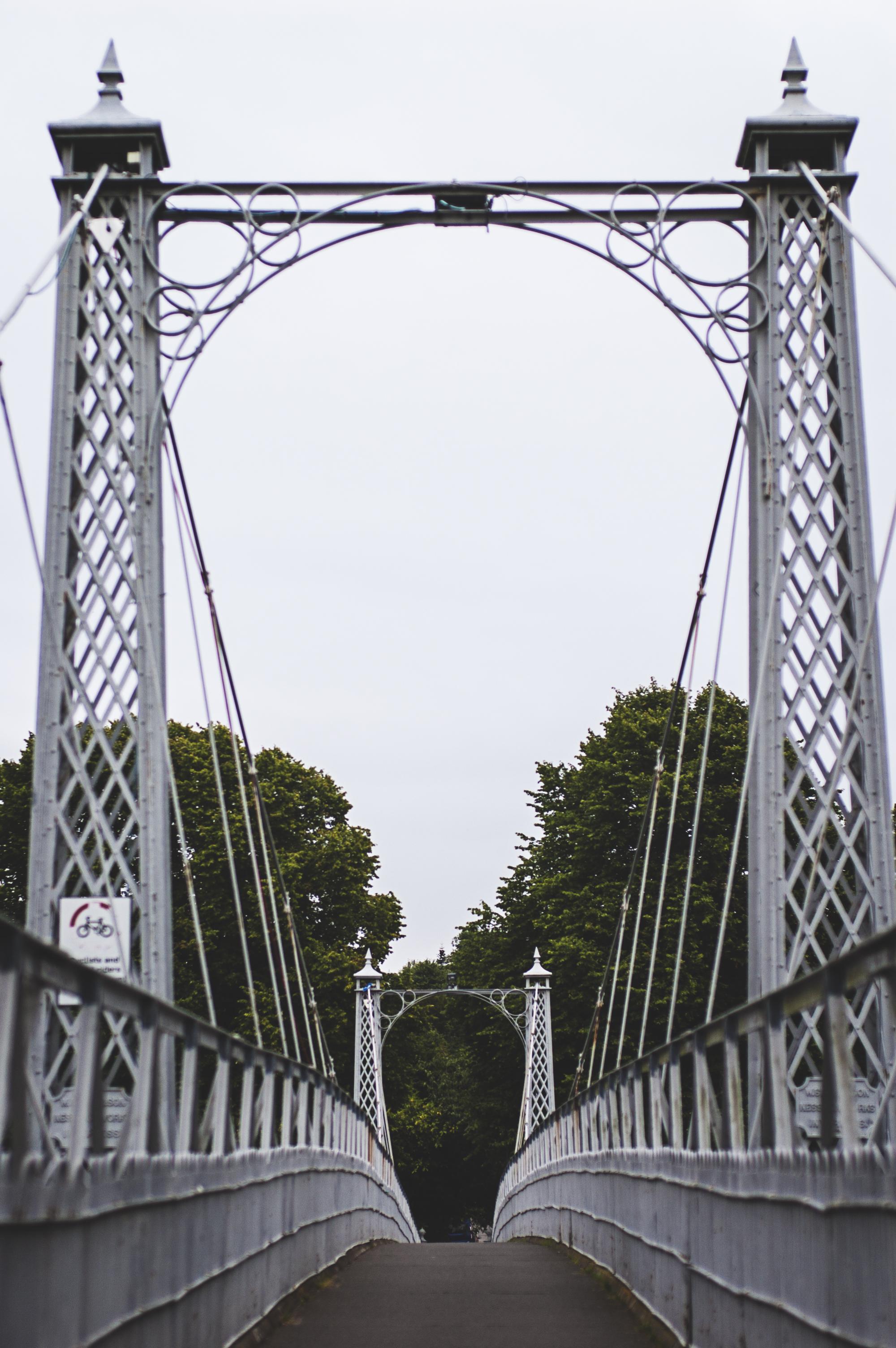 Crossing the Greig Street Bridge in Inverness