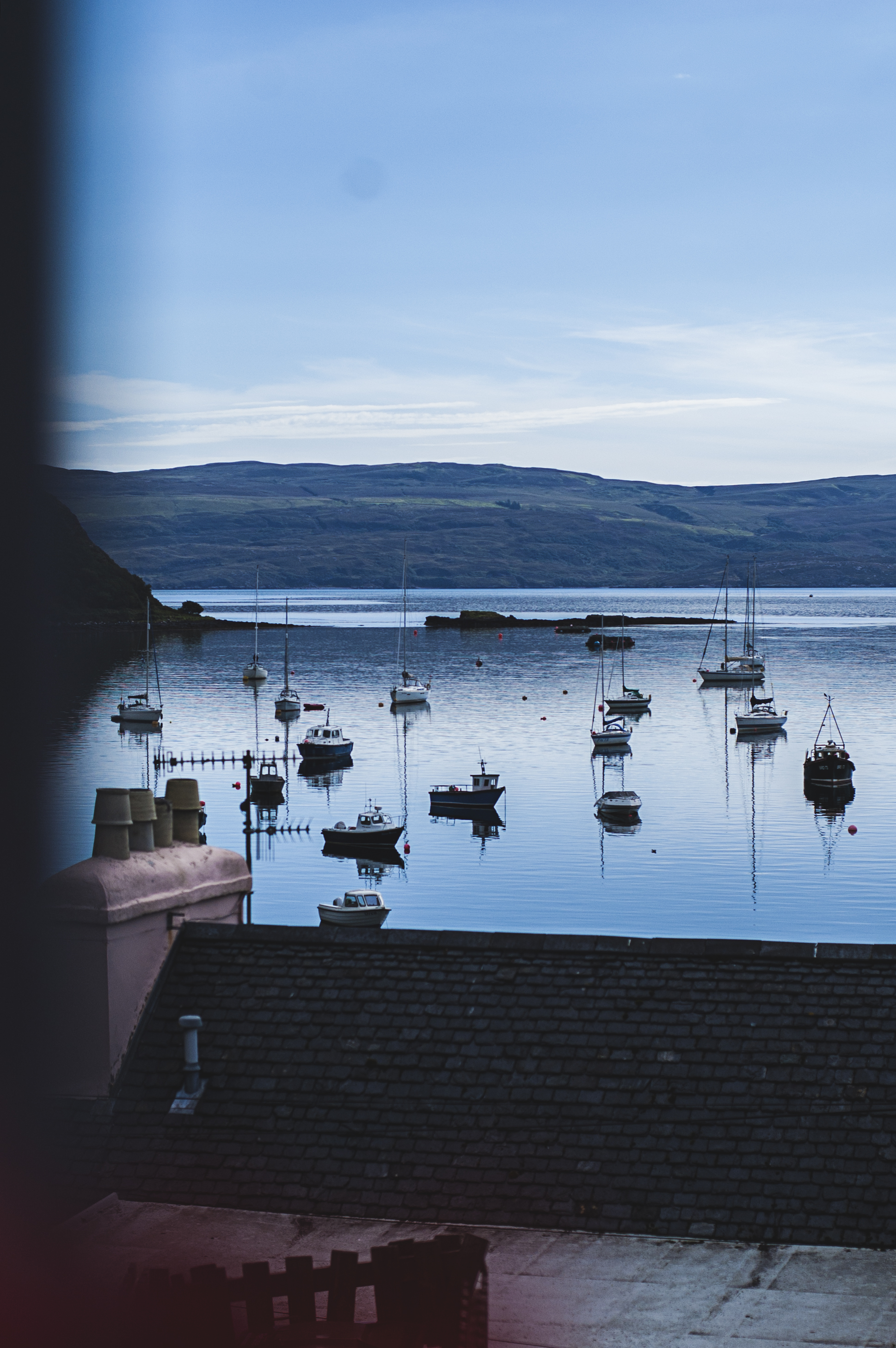 Overlooking the Portree Harbour