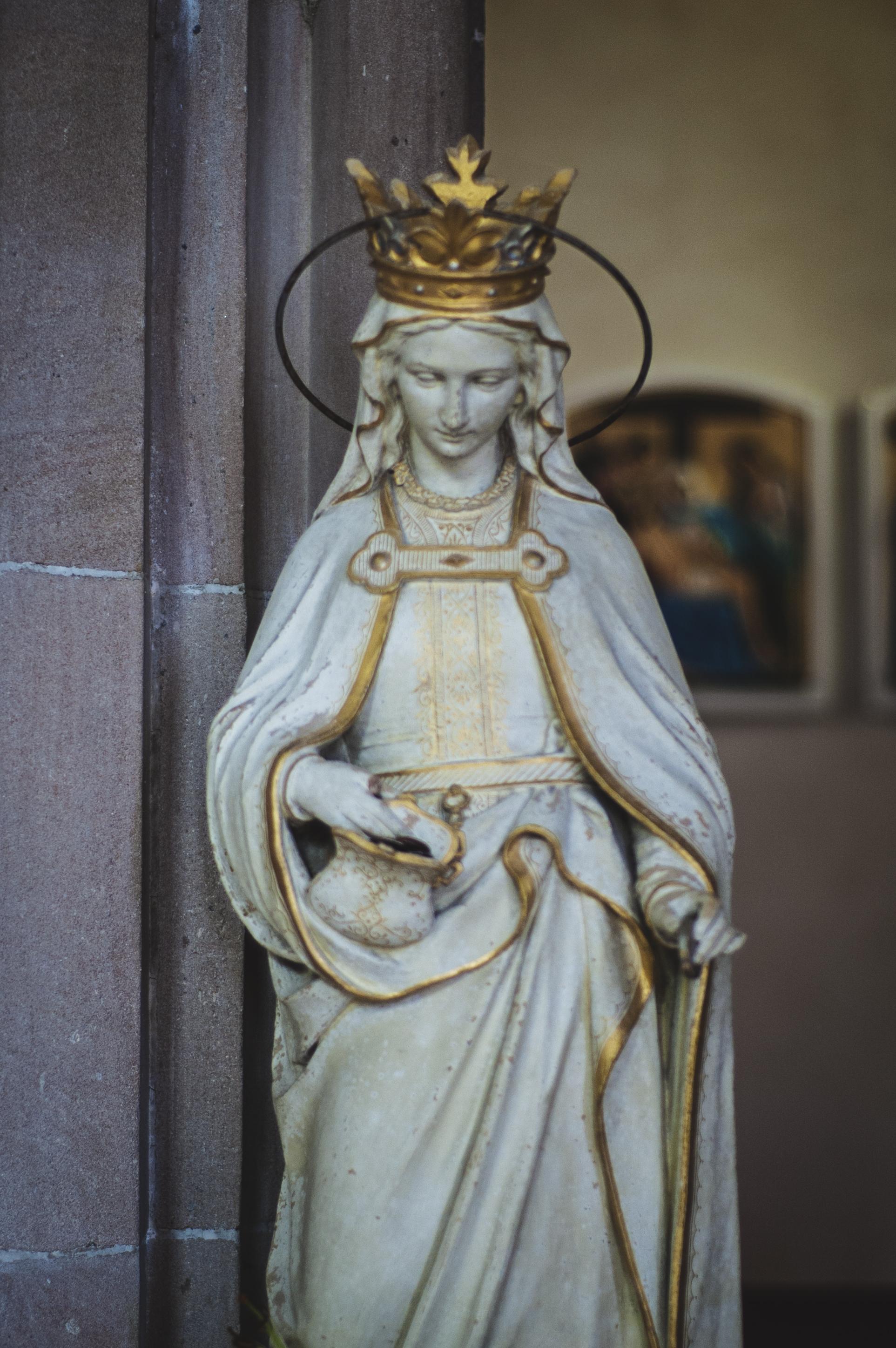 Inside the beautiful Church of St Mary & St Finnan