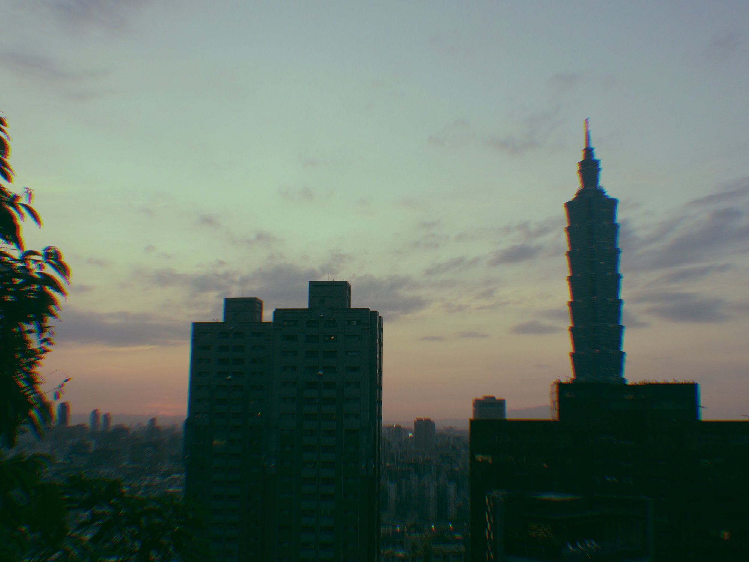Taipei 101 hovering over the city skyline