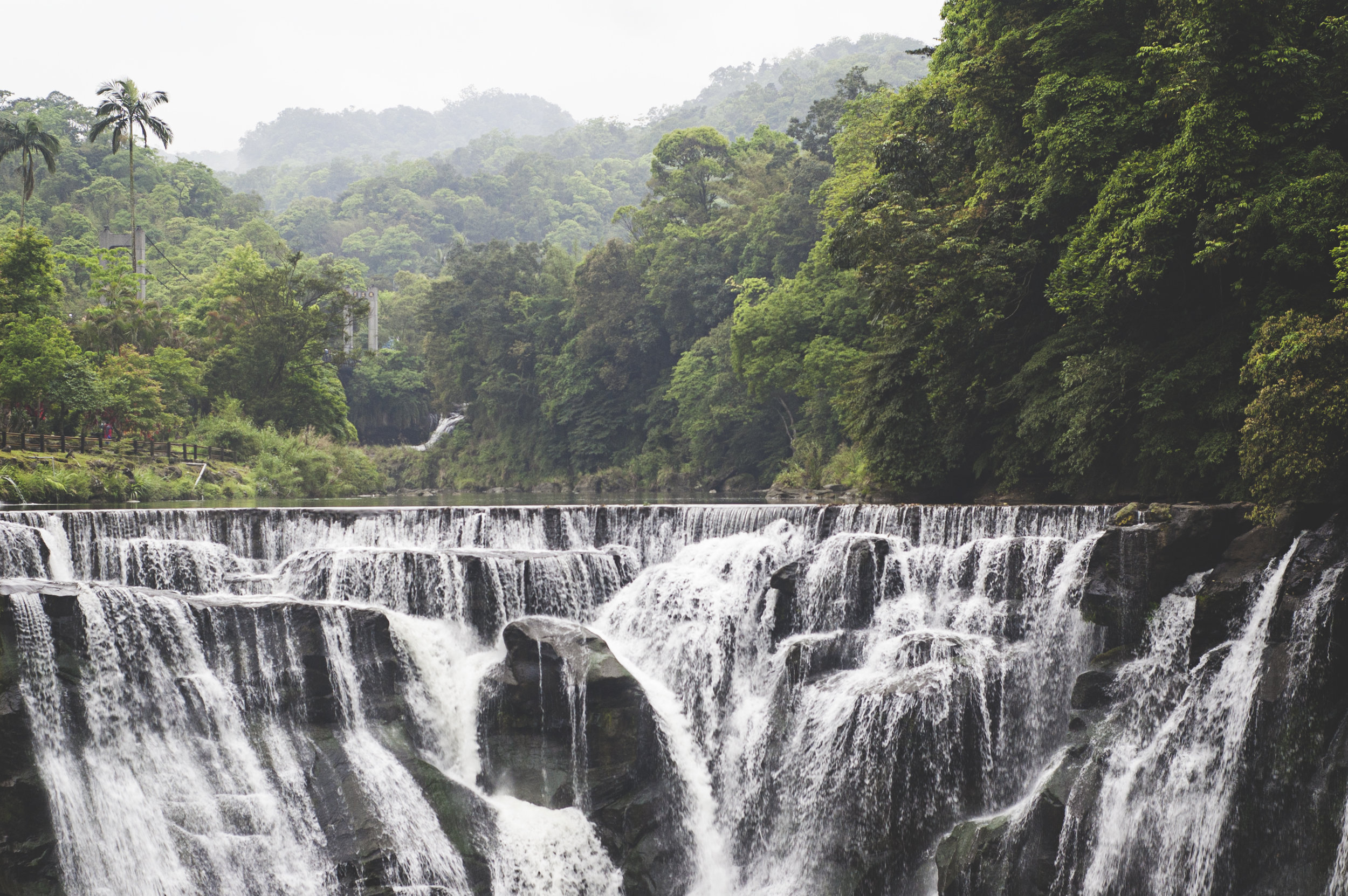 "Shifen waterfall has been crowned ""the niagaras of taiwan"""