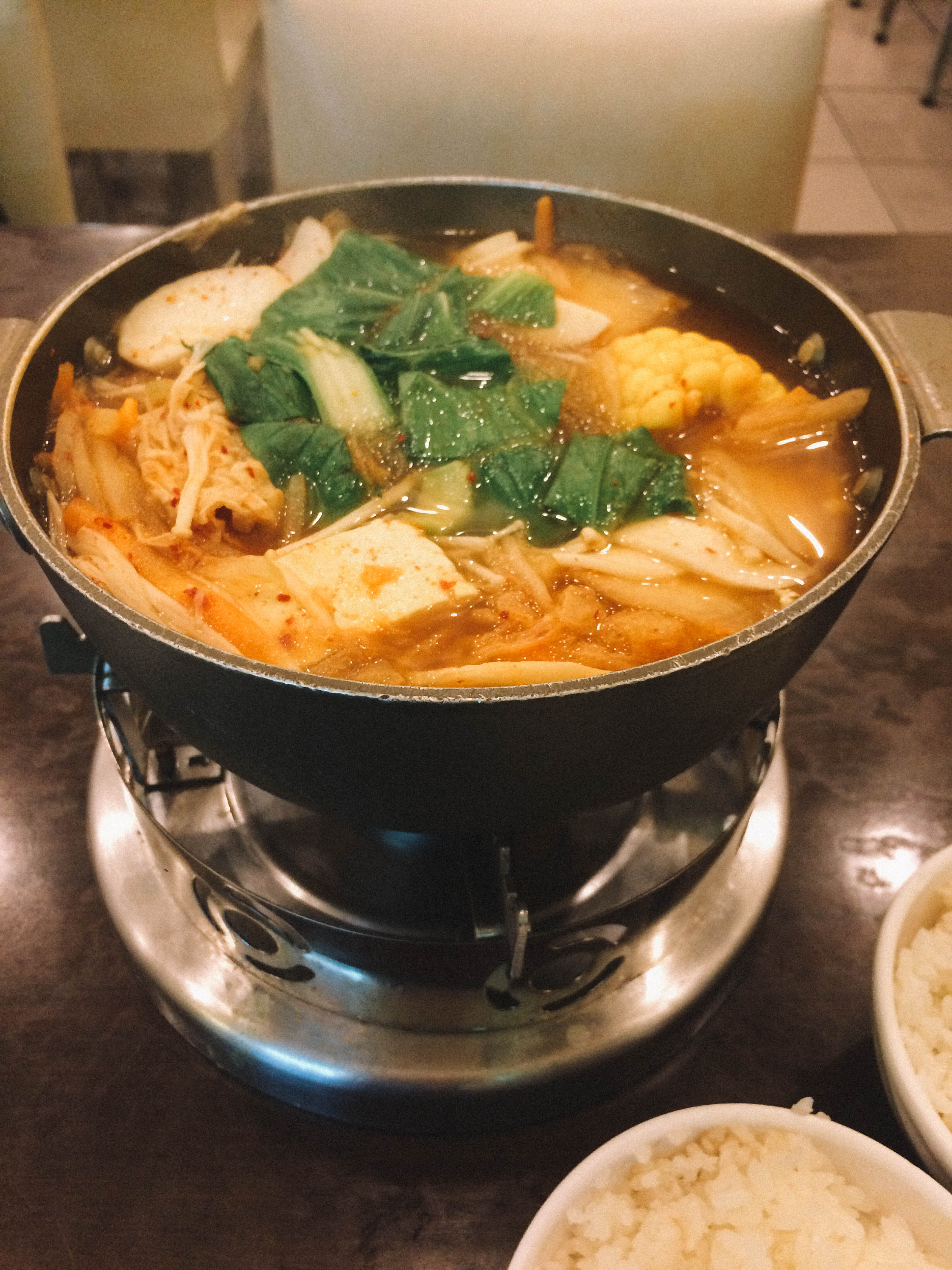 Hot pot at chuan zhen vegetarian