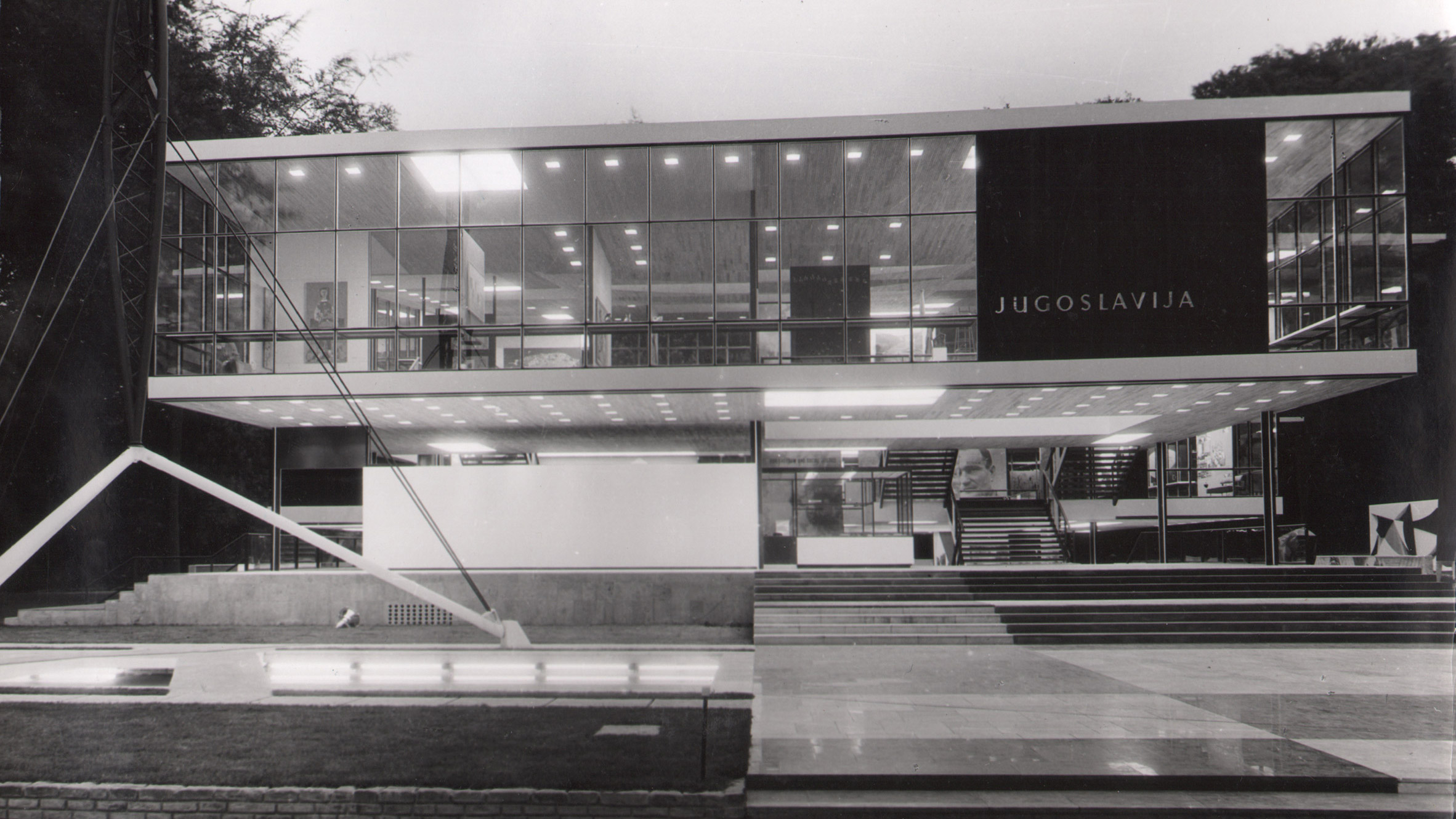 Yugoslav Pavilion at Expo 58. 1958. Brussels, Belgium. Photo: MoMA