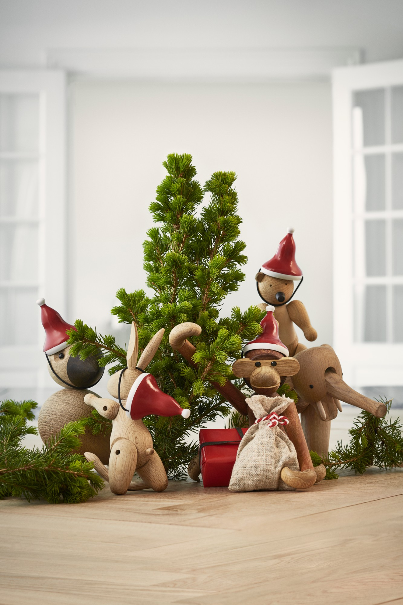 Featured: Lovebird, Rabbit, Monkey, Elephant and Bear by Kay Bojesen