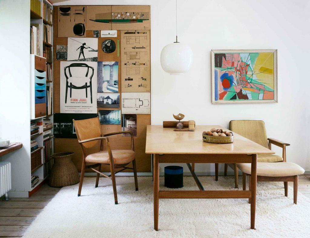 Finn Juhl's Home in Copenhagen Image Credit: Ordrupgaard / Finn Juhl House