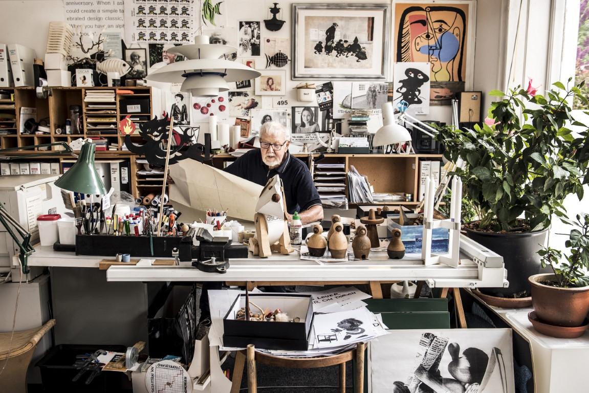 Hans Bolling in his Studio Image Credit: Culture Trip