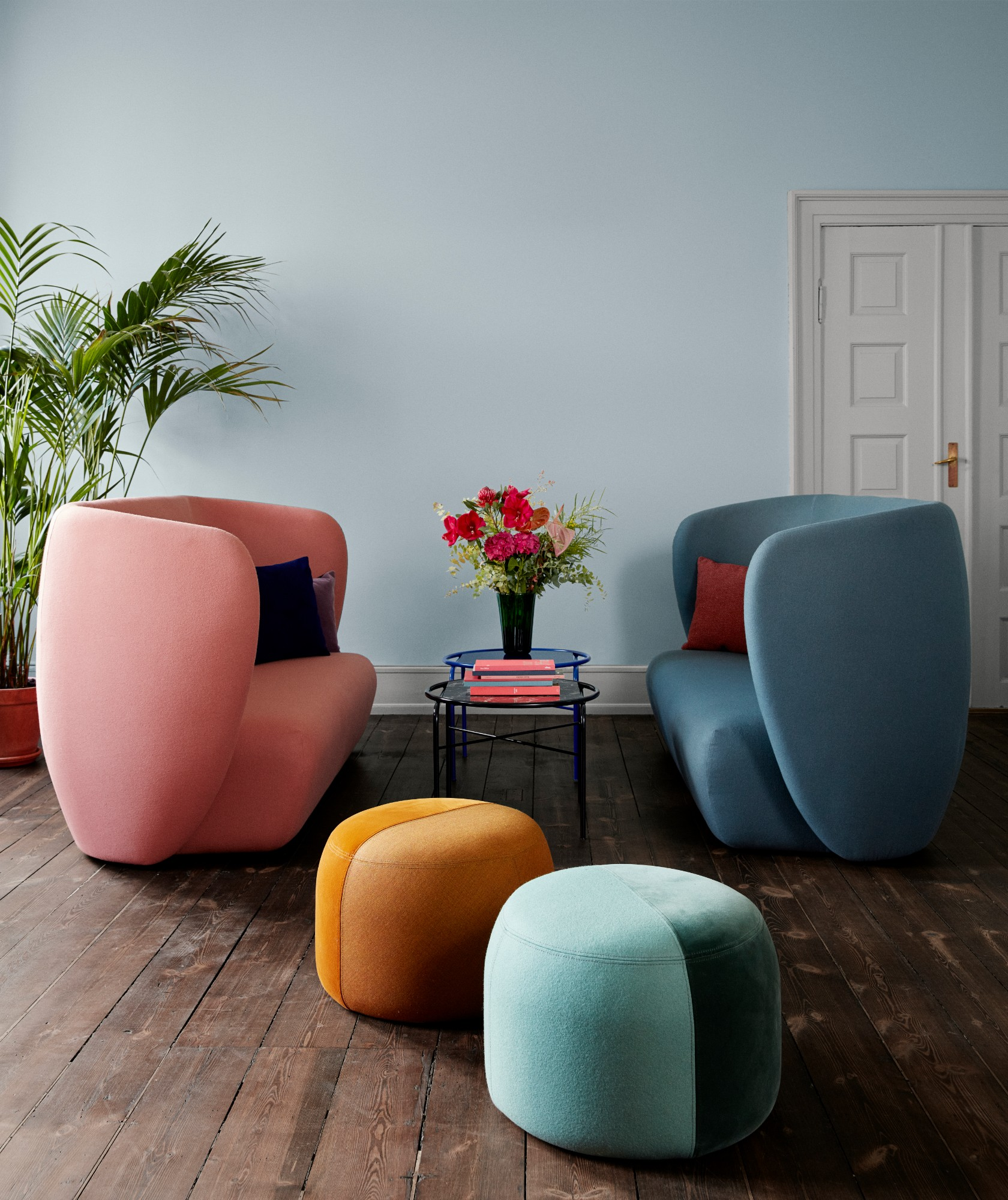 Charlotte Høncke 'Haven' 3-Seater and 'Dainty' Pouf Image Credit: Warm Nordic