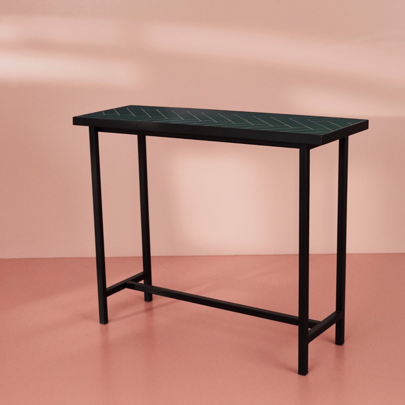 Charlotte Høncke 'Herringbone Tile' Console Table Image Credit: Warm Nordic