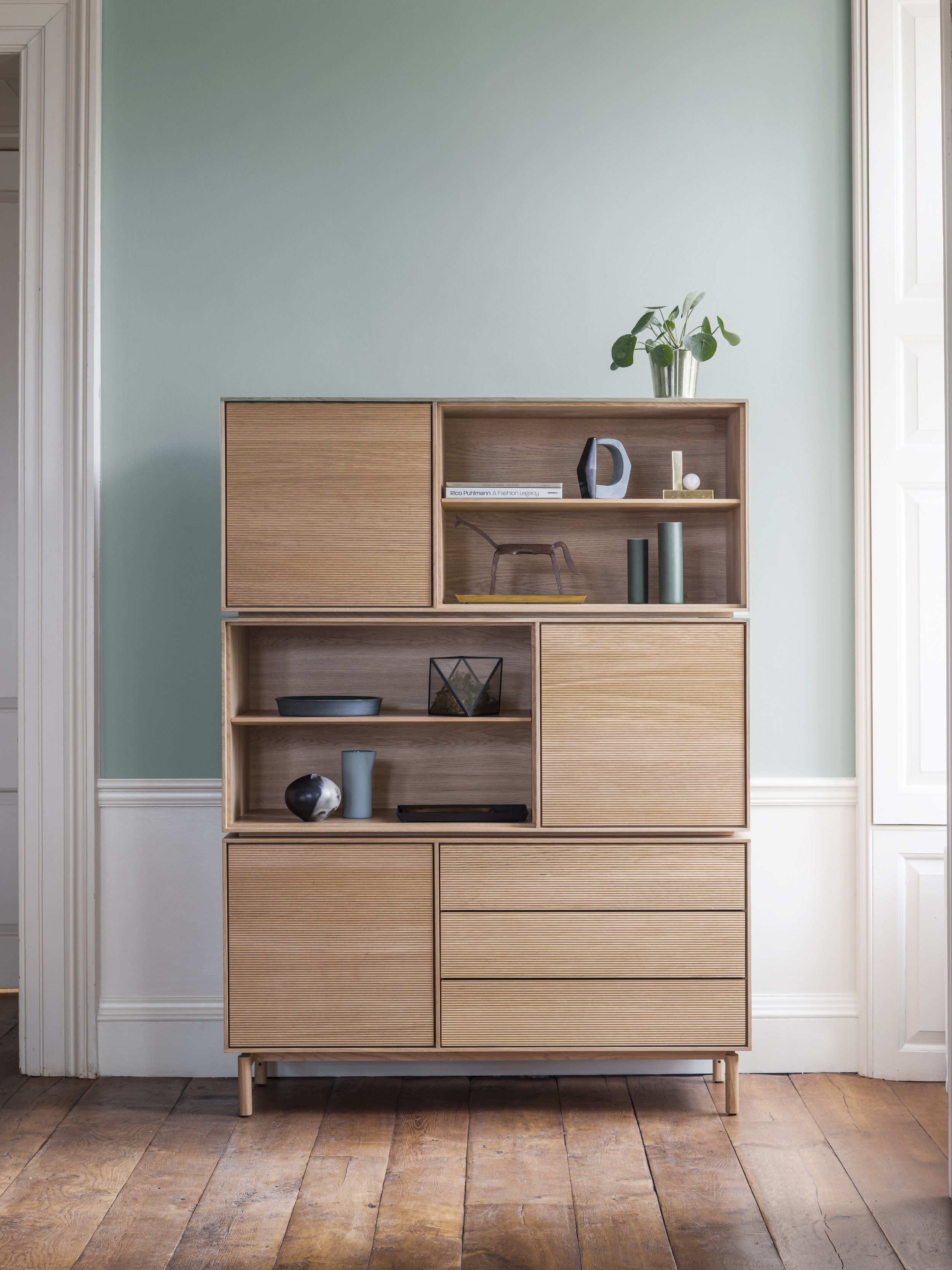Dylan Freeth 'Modulo' Stacking Cabinets Image Credit: Ercol