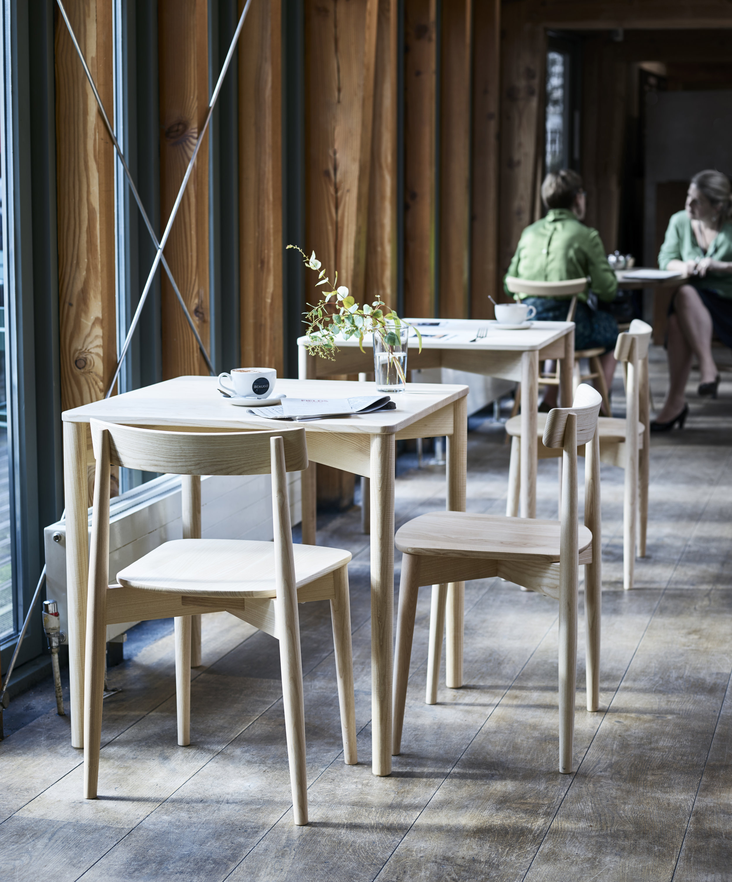 Dylan Freeth 'Lara' Chairs and 'Luca' Tables Image Credit: Ercol
