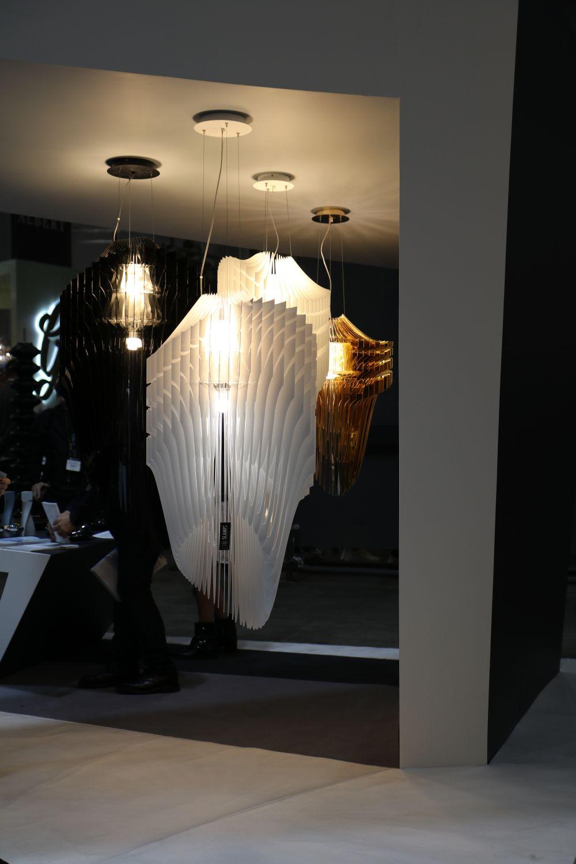 Pendant lighting at Zaha Hadid Design