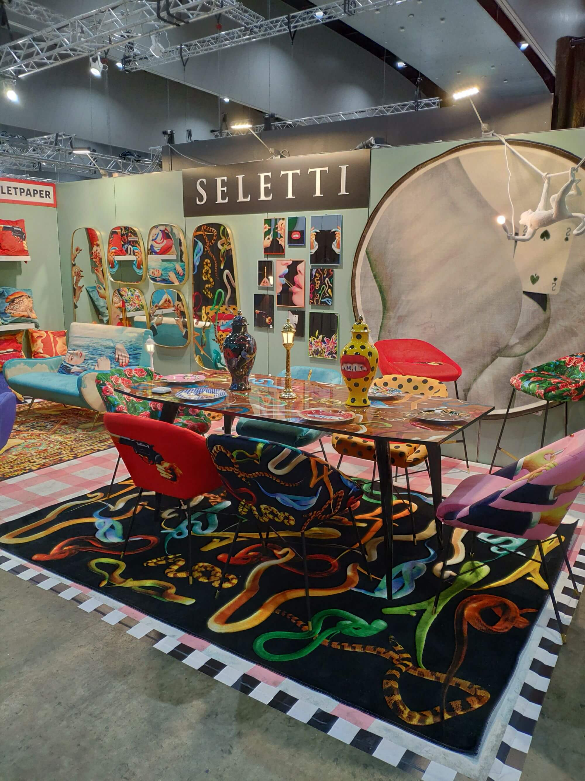 Seletti's colourfully camp stand