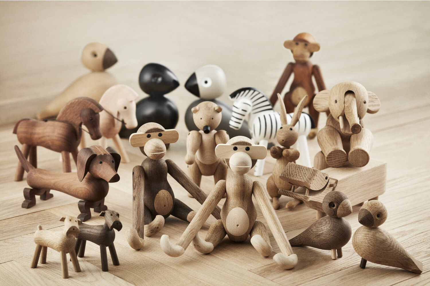 Playful Wooden Toys by Danish Designer Kay Bojesen